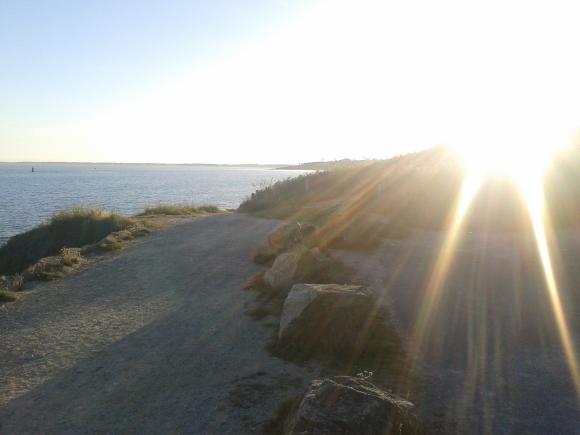 La plage de Bénodet le soir