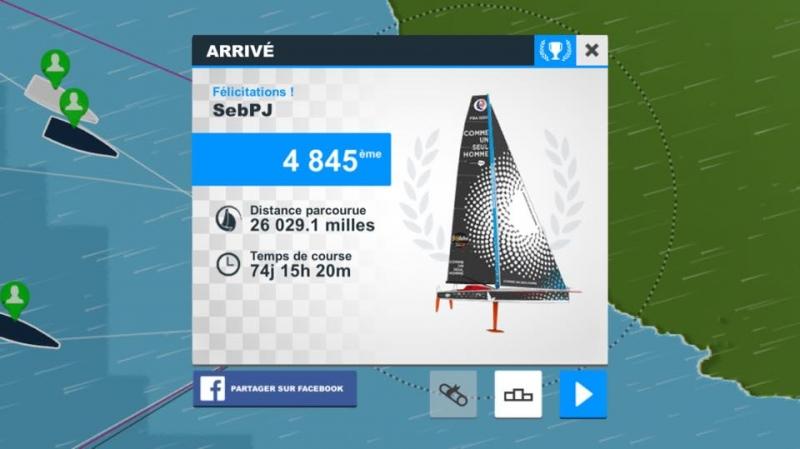 SebPJ vainqueur du Vendée Globe A.F.P.R. sur Virtual Regatta