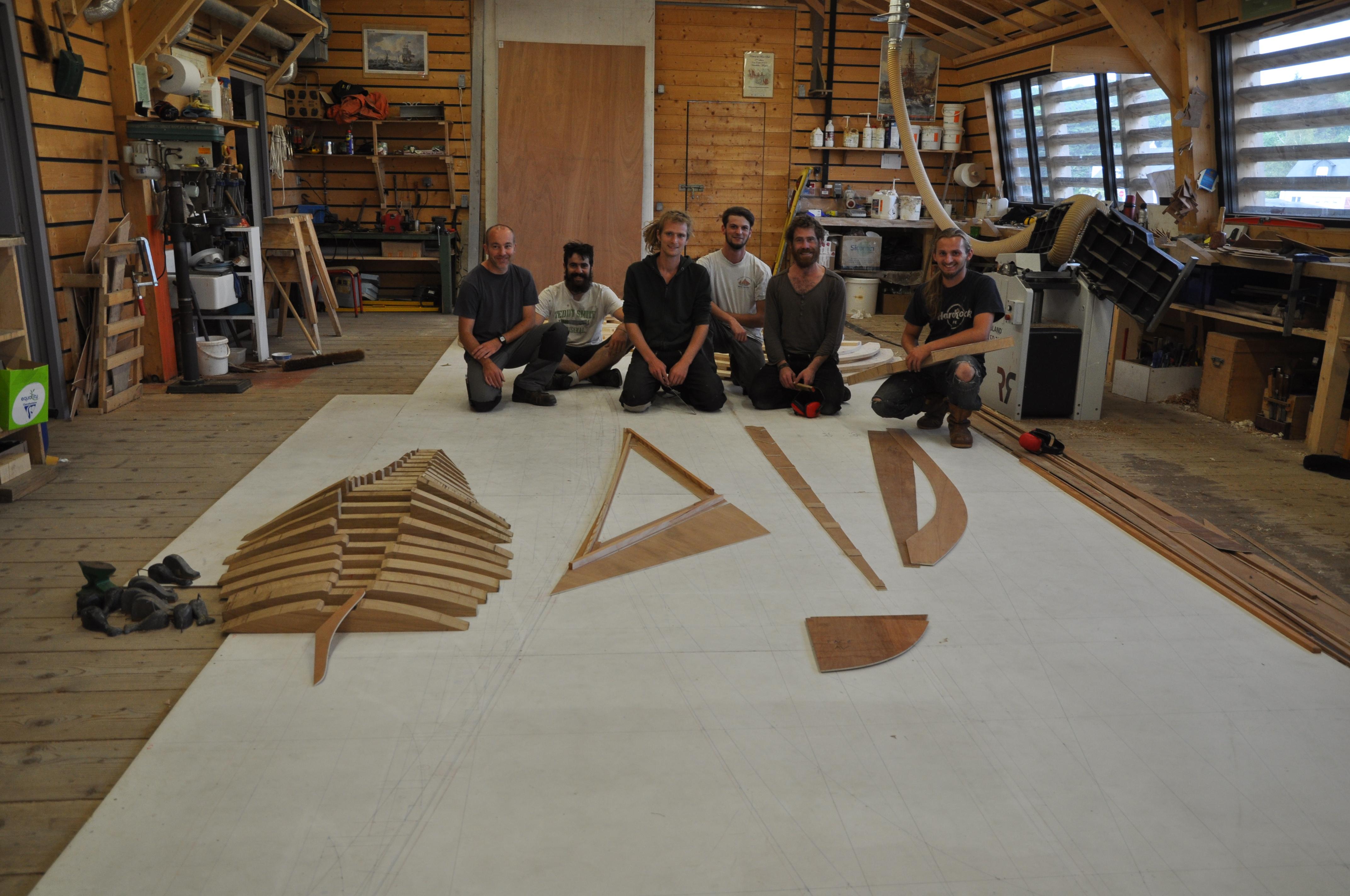 La construction d'un nouveau Requin en bois est lancée !