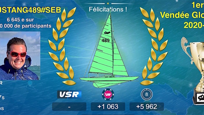 Mustang489#Seb remporte le Vendée Globe A.F.P.R 2020-2021 !